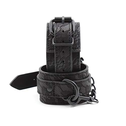 Cuff Harness (Health Lodge Black Pattern Jacquard Leather Cuffs Toys)