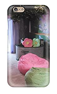 Tpu Shockproof Scratcheproof Pink Fairy Theme Playroom With Corner Oak Tree And Fountain-like Reading Area Hard Case Cover For Iphone 6 2342879K94460204