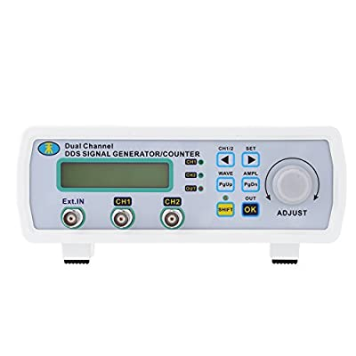 KKmoon High Precision Digital DDS Dual-channel Signal Source Generator Arbitrary Waveform Frequency Meter 200MSa/s 6MHz