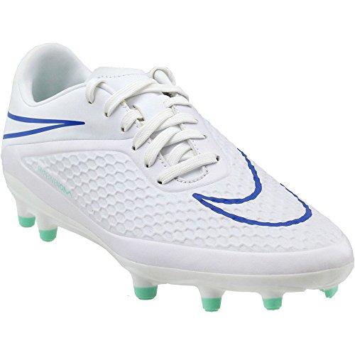 NIKE Womens Hypervenom Phelon FG (White/Mint/Cobalt) (6.5) by Nike