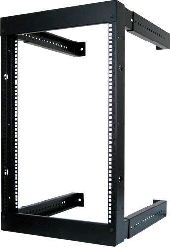 16U Open Wall Mount Frame Rack – Adjustable Depth 18 – 30