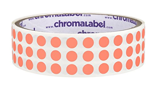 ChromaLabel 1/4 inch Color-Code Dot Labels | 1,000/Roll (Salmon)