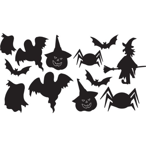 Family-decal Wall Sticker Lettering Quotes and Saying Halloween Composition for Nursery Kids Room Living Room Bedroom