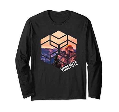 Unisex Yosemite Long Sleeve Shirt Yosemite National Park Mountains XL: Black -