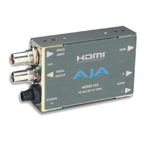 Hd Sdi Video - AJA Hi5 HD-SDI/SDI to HDMI Video and Audio Converter