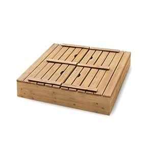 Badger Basket Covered Convertible Cedar Sandbox with Bench Seats, Natural