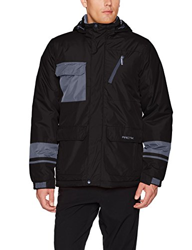 Men's Cliff Insulated Winter Jacket, X-Large, Black