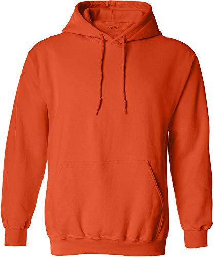 Joe's USA - Big Mens Size Five Extra Large Hoodie Sweatshirts-5XL in Orange