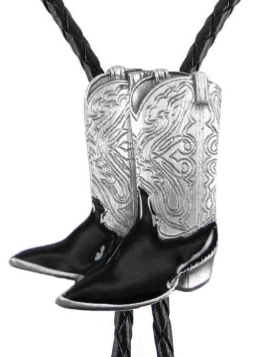 Bolo Tie - Cowboy Boots - Sculpted Pewter (Boot Bolo Tie)