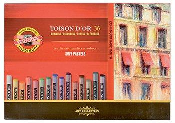 KOH-I-NOOR TOISON D'OR 8515 Artist's Soft Pastels (Pack of 36)