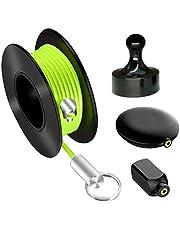 Extrator Wiremag, sistema de tração de cabo magnético, extrator de pesca de fio de parede com fita de peixe, sistema de tração guia de arame para sua casa e ao ar livre, escritório e jardim, presente de dia dos pais.