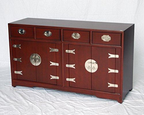 Burgundy Wooden Buffet Model 5016-F (Oriental Sideboard)