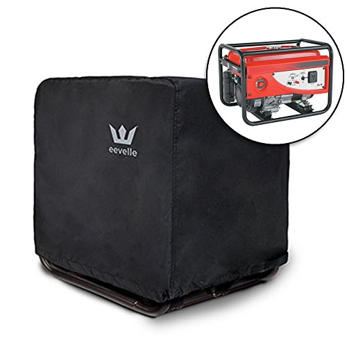 Eevelle Durable, Water/UV Resistant RV Generator Motor Cover, Black, L (33''L x 27'' W x 27'' H) by Eevelle