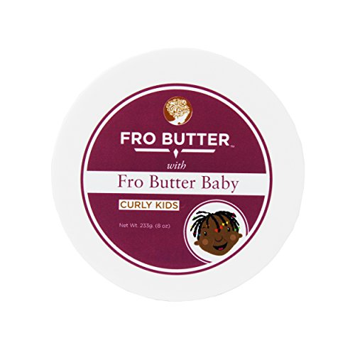 Fro Butter Hair Growth Treatment | Shea Butter, Virgin Coconut & Lavender Oil, Pumpkin Seeds & Nourishing Extracts | For Fast Hair Restoration, Split Ends, Damaged & Brittle Hair (Baby Hair Detangler)