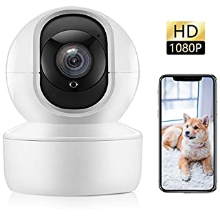 Home Security Camera, 1080P Indoor Wireless WiFi IP Camera for Pet/Baby/Elder Monitor with Motion Detection/Tracking, 2-Way Audio, Night Vision, Home Surveillance Support iOS/Android App
