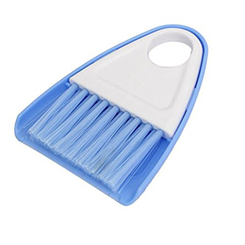Generic Plastic Handle Mini Broom And Dustpan Set Corner Cleaner For Office Home Kitchen Car Keyboard S Blue