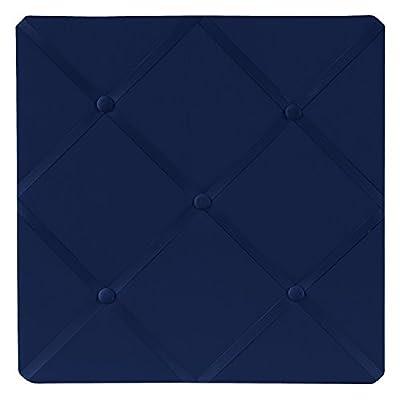 Navy Blue Fabric Memory/Memo Photo Bulletin Board: Baby