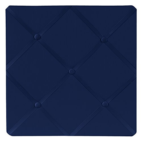 Sweet Jojo Designs Navy Blue Fabric Memory/Memo Photo Bulletin Board ()