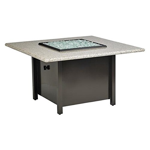 American Fire Products Carmel Series Outdoor Gas Fire Pit Table by, Square, 42-Inch, Sunset Gold Granite Top (Top Sunset Gold Granite)