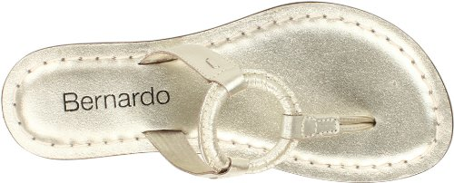 Bernardo Womens Matrix Nuovo Perizoma Metallico Sandalo Platino