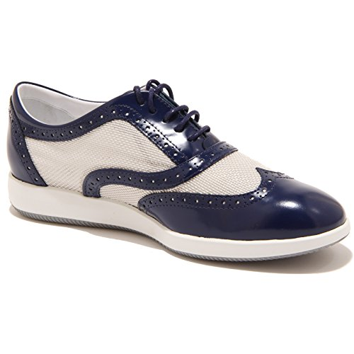 XL BUCATURE H209 francesina shoes 89811 Bianco HOGAN donna Blu scarpa DRESS women U6qIOaA