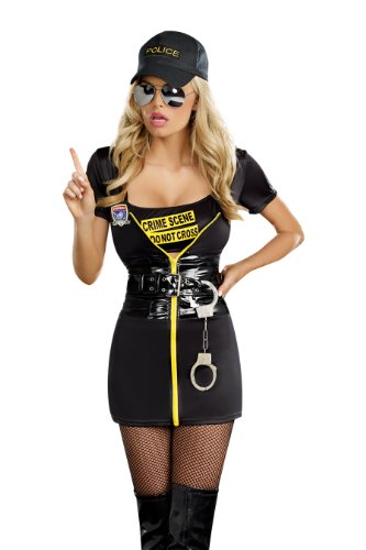 Dreamgirl Get A Clue, Black, Large - Clue Halloween Costumes