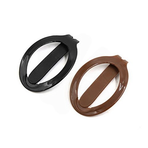 2pcs Black Coffee Color Plastic Updo Hair Barrette Clip Girls Womens Beauty Styling Tools Ponytail Holder by Ugtell