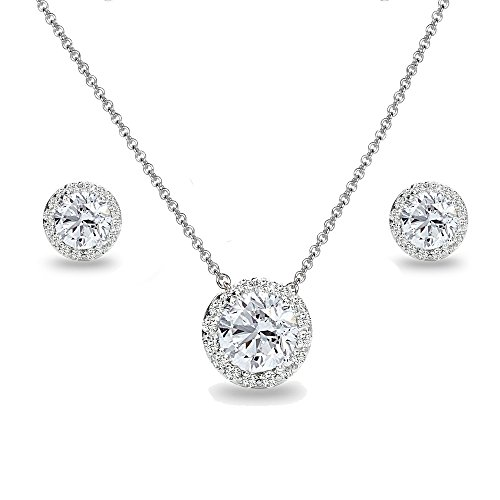 Sterling Silver Necklace And Earring Set - 3