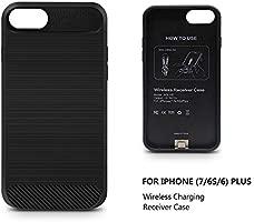 ANGELIOX Cargador inalámbrico, Qi Receptor de Carga inalámbrica Carcasa Funda para iPhone 7/6/6S Plus, 10W Carga inalámbrica Pad para Samsung Galaxy ...