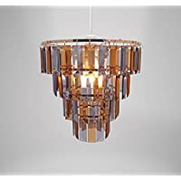Country Club Tiered Copper & Grey Chandelier Light Shade