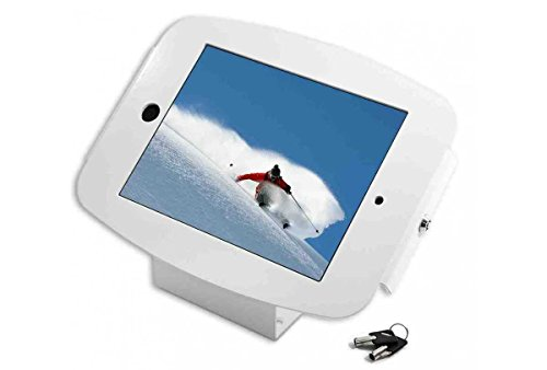 Maclocks 101W235SMENW iPad Space Enclosure Kiosk With 45-Degree Mount for iPad Mini (White) by Compulocks