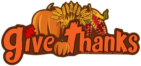 Give Thanks Bumper Magnet