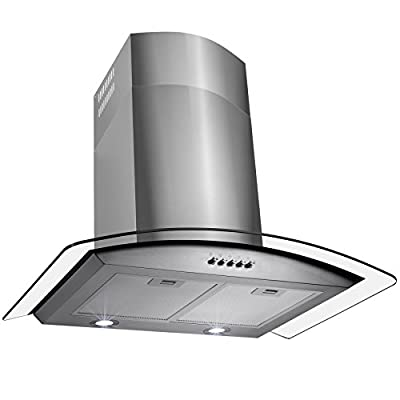 "FIREBIRD New 36"" European Style Wall Mount Stainless Steel Range Hood Vent W/Push Button Control FBTK-S307H-90"