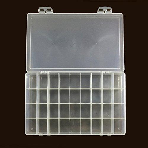 Rectangular Transparent Plastic Watercolor Palette Box, Jewelry Box Multi Purpose Organizer Storage Container (36 rectangular wells) by Peregrine