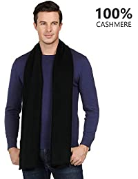 "100% Pure Cashmere Viscose Winter Scarf for Men Boys Warm 18""x71"" - Silky Soft Cashmere Scarf Gift"