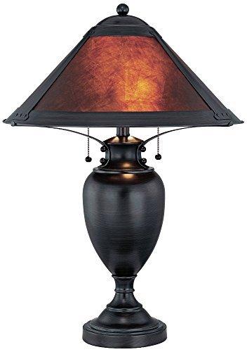 Lite Source LS-21437 Mischa Table Lamp, Dark Bronze with Mica Shade by Lite Source