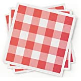 100% Recycled Paper Cocktail Napkin Red, pack of 200