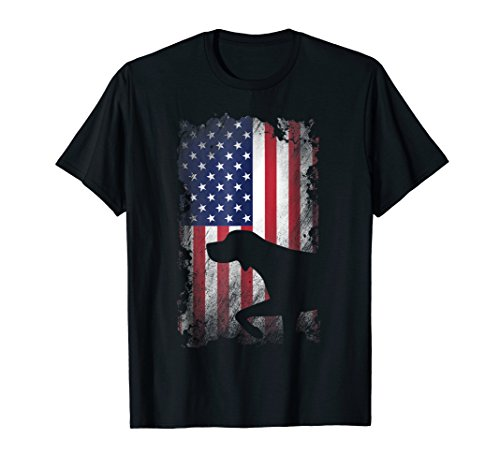German Shorthaired Pointer American Flag Shirt Patriotic