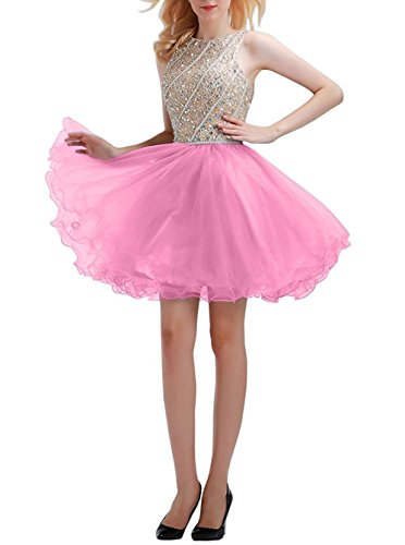 candy pink prom dresses - 7