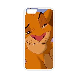 iPhone 6 Plus 5.5 Inch Cell Phone Case White Disney The Lion King Character Simba Iizxc