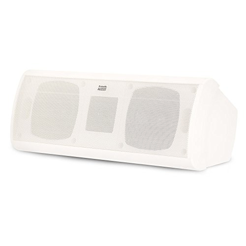Acoustic Audio AA40CW Indoor Center 3 Way Speaker 500 Watts White Bookshelf