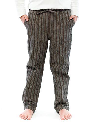 100% Cotton Flannel Winter Lounge Pants 2FBP-05-Brown-YM ()