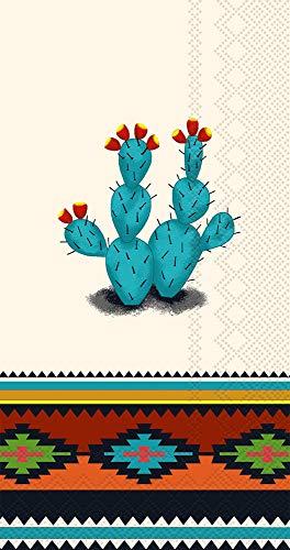 Ideal Home Range 32 Count 3-Ply Paper Guest Towel Dinner Buffet Napkins, Southwest - Dinner Aztec