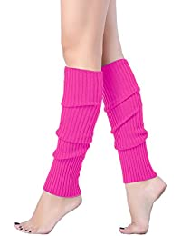 Women Juniors 80s Eighty's Ribbed Leg Warmers for Party...