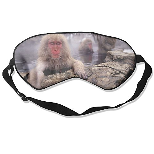 Silk Sleeping Mask Eye Monkeys Geysers Lightweight Soft Adjustable Strap Blindfold For Night's Sleep Nap Travel Eyeshade Men And Women ()