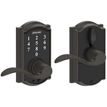 Schlage Touch Century Lock With Latitude Lever Satin