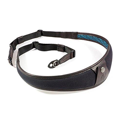 4V Design ALA Handmade Leather & Canvas Camera Strap w/ Metal Ring Fit Kit, Black/Black (2ALLRCV0909) by 4V Design