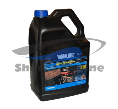 YAMAHA LUB-2STRK-M1-04 Yamalube 2M Marine 2-Stroke Oil NMMA TC-W3 Gallon; LUB2STRKM104 Made ()