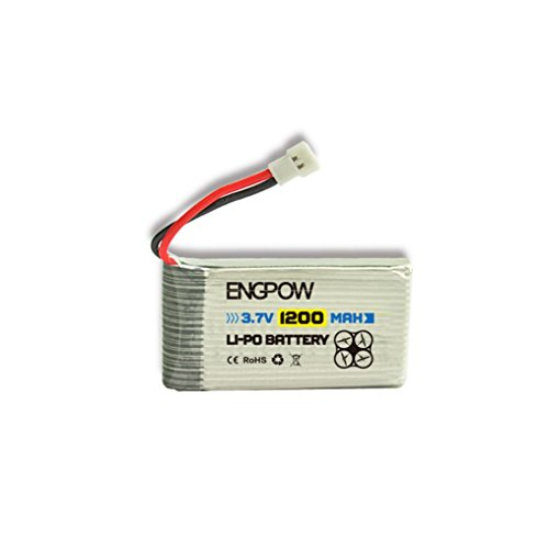 Voberry Upgrade 3.7V 1200mAh 25C Lipo Battery for Syma X5 X5C X5SC X5SW-1 X5SW (White)