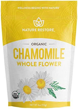 Organic Chamomile Whole Flower, Loose Leaf, Tea Leaves, 4oz Packaging may vary